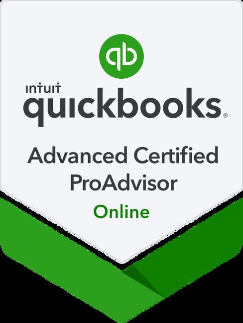 QBO Advanced Certified ProAdvisor Badge