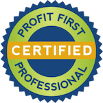 "Badge that says ""Certified Profit First Professional"""